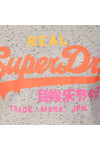 Superdry Womens Grey Suede Vintage Logo Entry T Shirt