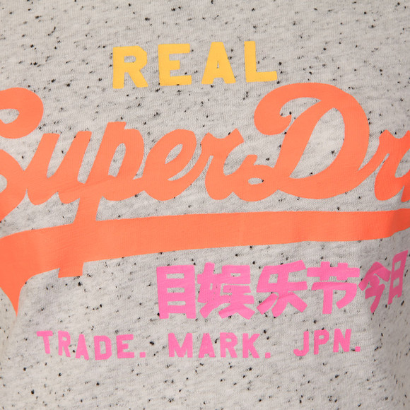 Superdry Womens Grey Suede Vintage Logo Entry T Shirt main image