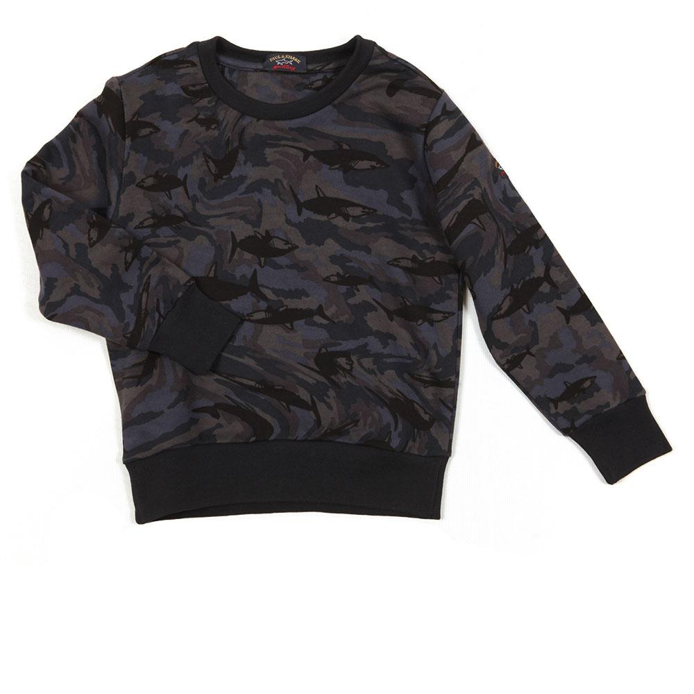 Shark Print Camo Sweatshirt main image