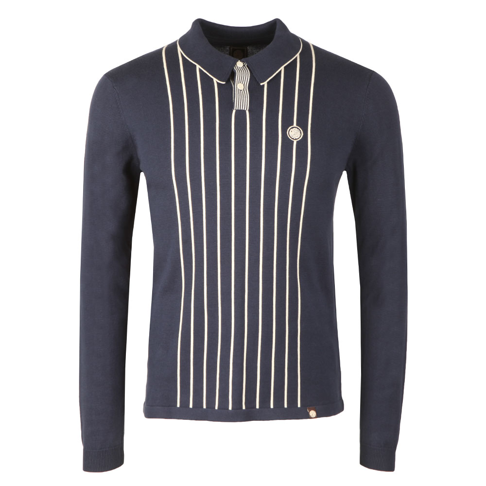 Center Striped Knitted Polo main image