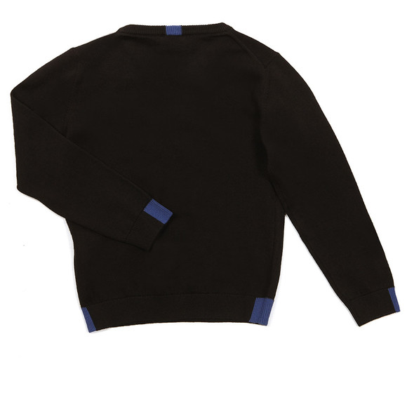 Armani Junior  Boys Black Large Logo Knitted Jumper main image