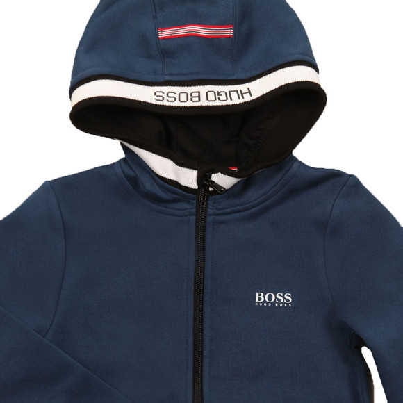 Boss Boys Grey Full Zip Hoody main image