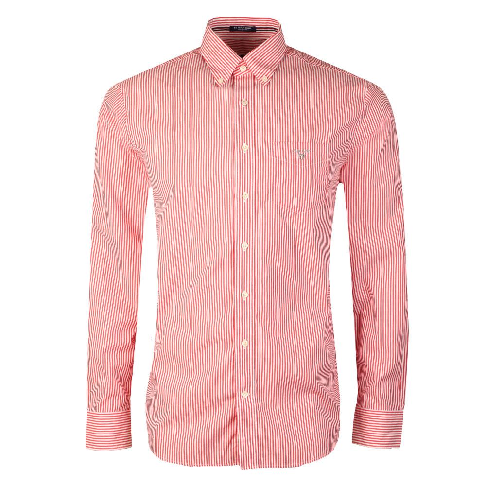 3010e64d11 Gant Poplin Bankers Stripe Shirt | Masdings