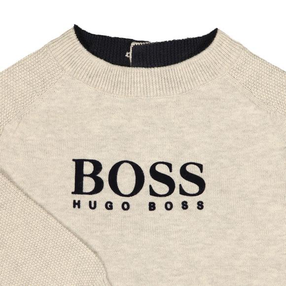 Boss Boys Grey Raglan Logo Jumper main image