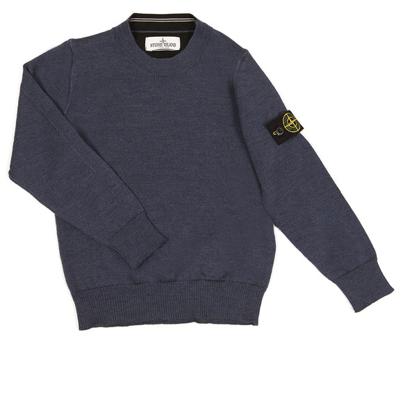 Stone Island Junior  Boys Blue Crew Neck Jumper main image