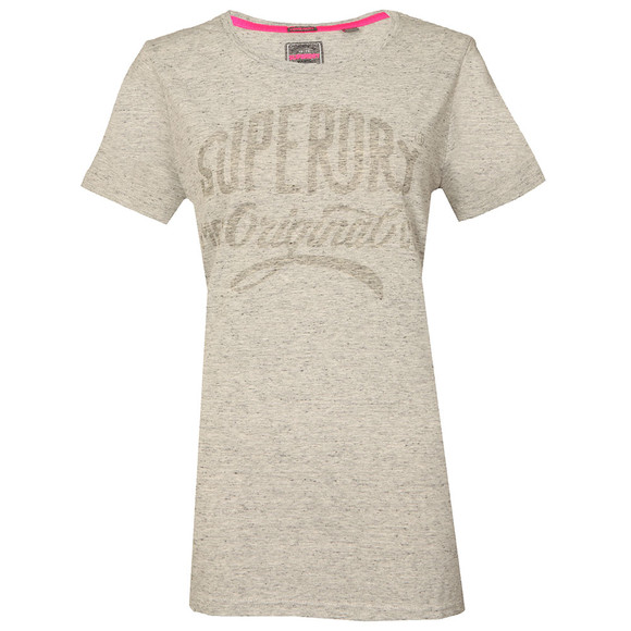 Superdry Womens Grey MFG Gel Long Line T Shirt main image