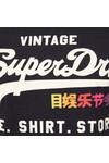 Superdry Womens Blue Rainbow Pop Shirt Shop Entry T Shirt