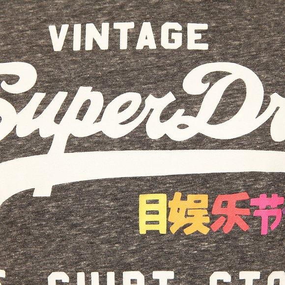 Superdry Womens Black Rainbow Pop Shirt Shop Entry T Shirt main image