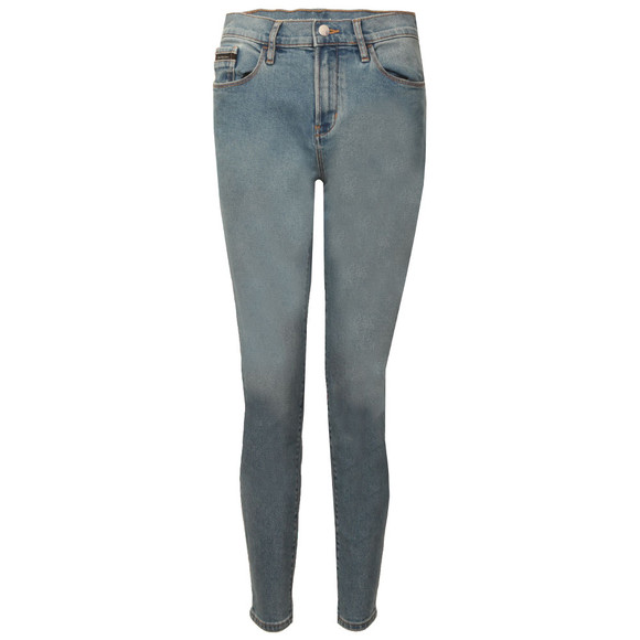 Calvin Klein Womens Bison Blue High Rise Skinny Ankle Jean main image