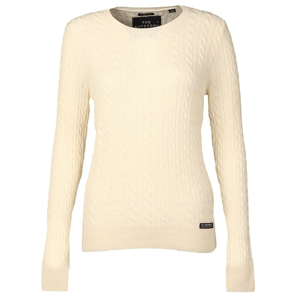 Superdry Womens White Luxe Mini Cable Knit main image