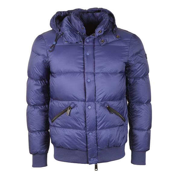 Armani Jeans Mens Blue Hooded Down Jacket main image