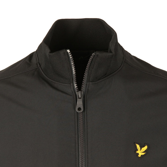 Lyle and Scott Mens Black Funnel Neck Soft Shell Jacket main image