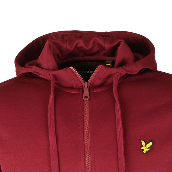 Lyle and Scott Mens Red Hooded Tricot Jacket main image