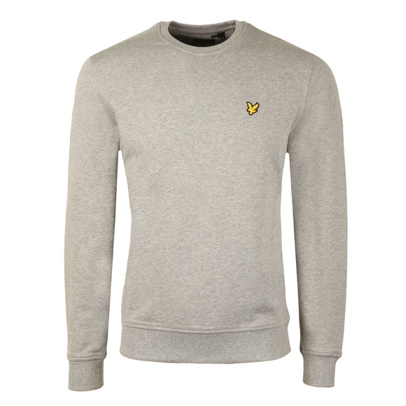 Lyle and Scott Mens Grey Crew Neck Sweatshirt main image
