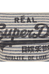 Superdry Womens Blue Vintage Logo Stripe Entry Tee