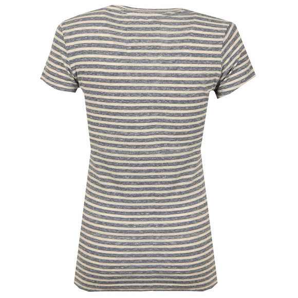 Superdry Womens Blue Vintage Logo Stripe Entry Tee main image