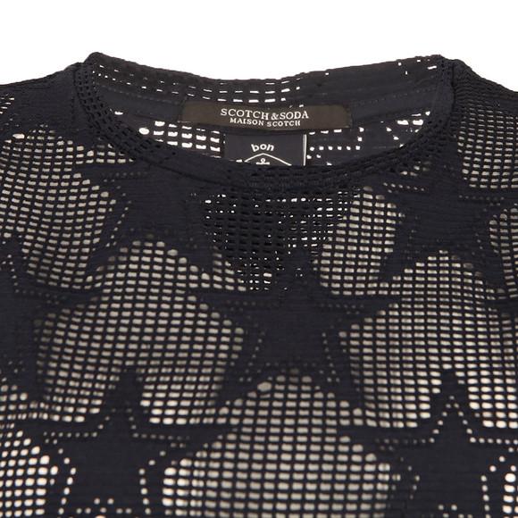 Maison Scotch Womens Blue Short Sleeve Boxy T Shirt main image