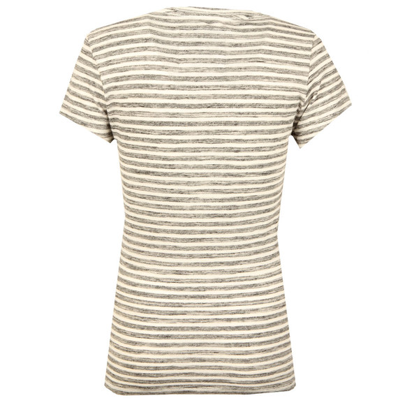 Superdry Womens Grey Vintage Logo Stripe Entry Tee main image
