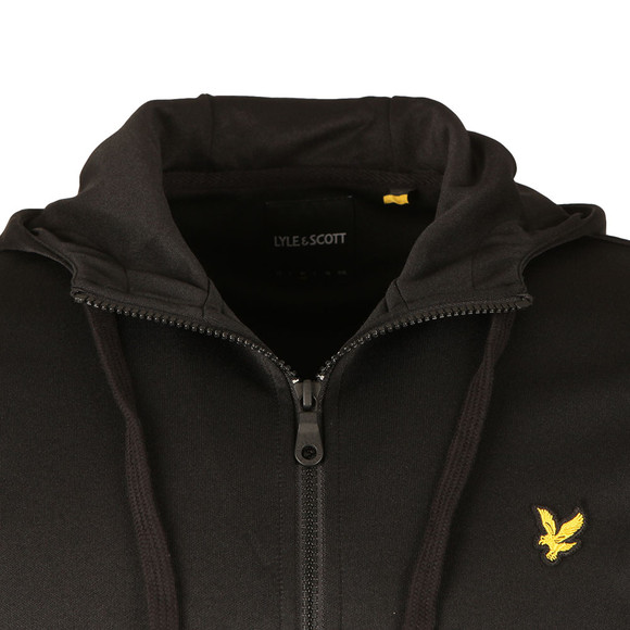 Lyle and Scott Mens Black Hooded Tricot Jacket main image