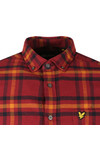 Lyle and Scott Mens Red Check Flannel Shirt