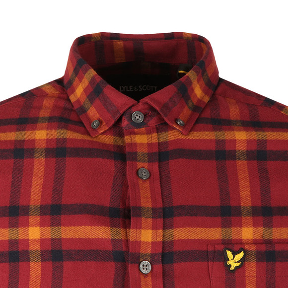 Lyle and Scott Mens Red Check Flannel Shirt main image