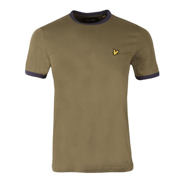 Lyle and Scott Mens Green Ringer T-Shirt main image