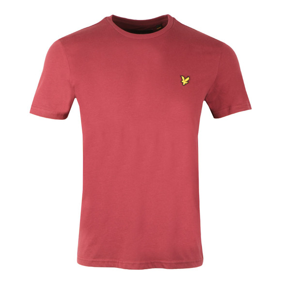Lyle and Scott Mens Red S/S T-Shirt main image