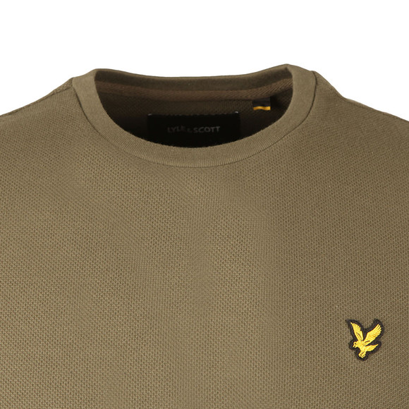 Lyle and Scott Mens Green Honeycomb T-Shirt main image