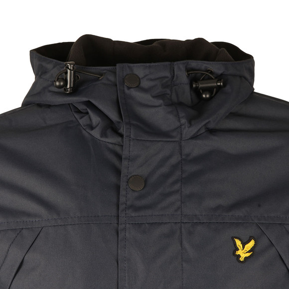 Lyle and Scott Mens Blue Micro Fleece Lined Jacket main image