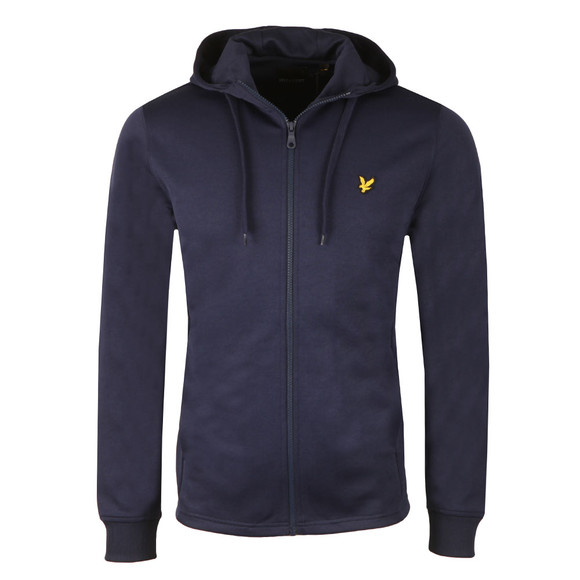 Lyle and Scott Mens Blue Hooded Tricot Jacket main image