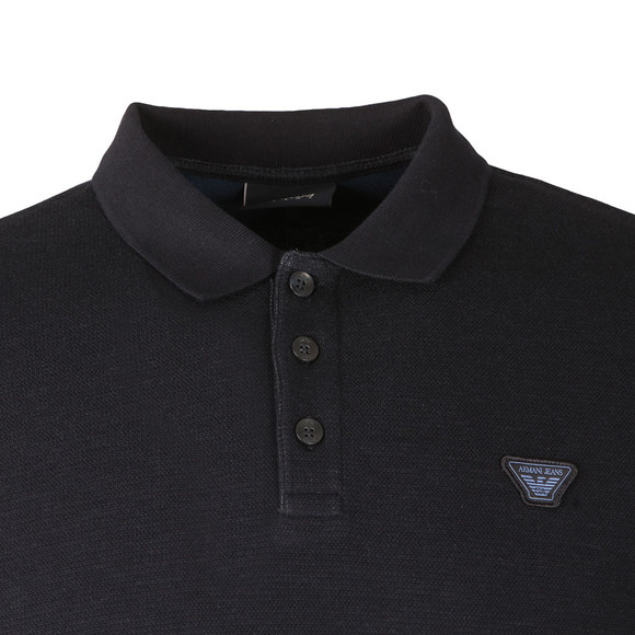 Armani Jeans Mens Blue L/S Jersey Polo Shirt main image
