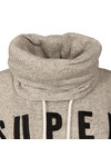 Superdry Womens Grey Applique Funnel Hoody