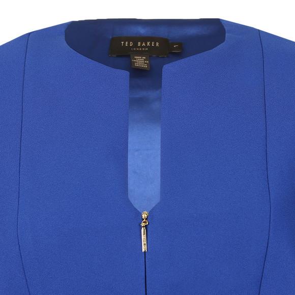 Ted Baker Womens Blue Porisa Bodycon Cape Back Dress main image