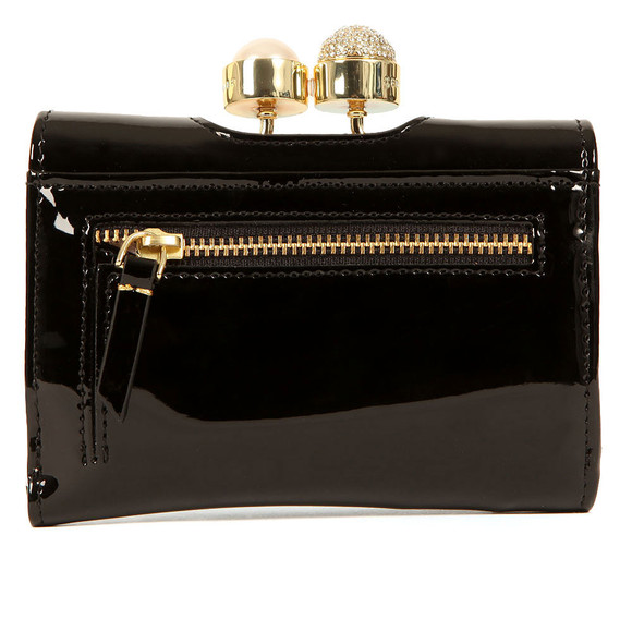 Ted Baker Womens Black Cattrin Crystal Pearl Bobble Small Purse main image