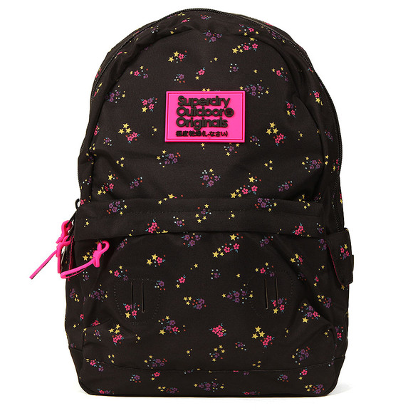 Superdry Womens Black Print Edition Montana Backpack main image