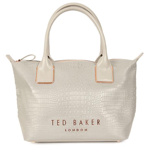 Ted Baker Womens Grey Remus Exotic Small Reflective Tote Bag main image