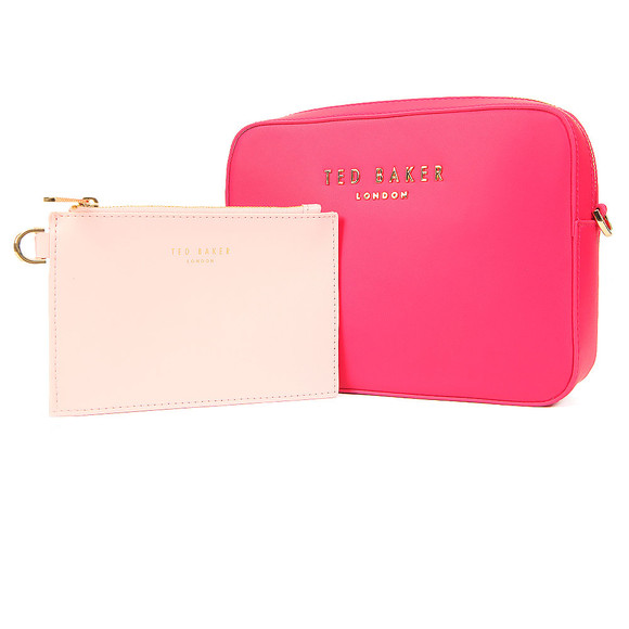 Ted Baker Womens Pink Emilii Statement Letters Xbody Bag main image