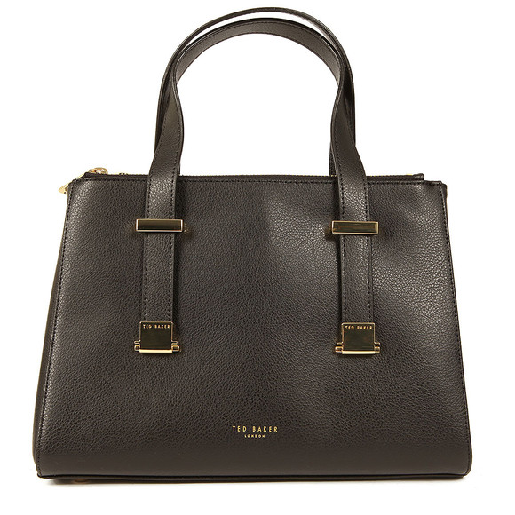 Ted Baker Womens Black Ameliee Adjustable Grain Tote main image