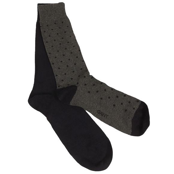 Gant Mens Grey 2-Pack Dot & Solid Socks main image