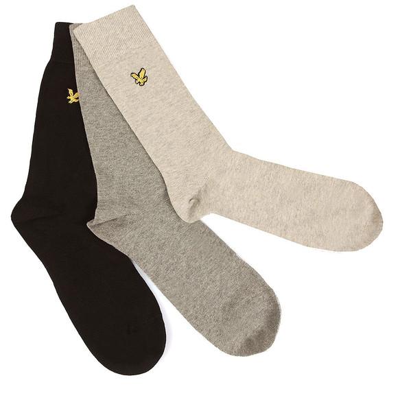 Lyle and Scott Mens Black 3 Pack Socks main image
