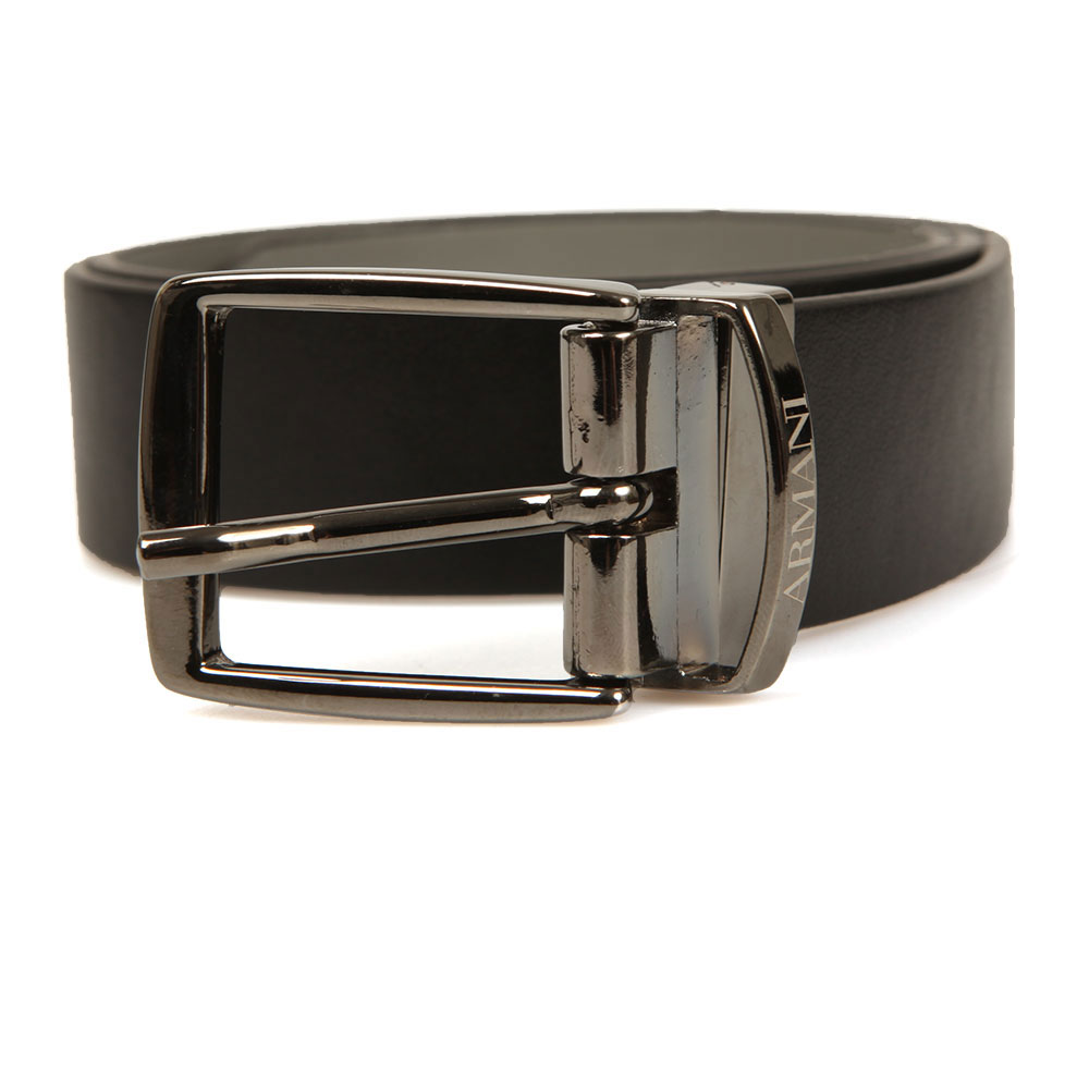 Armani Junior Reversible Leather Belt is a boy's sleek, smart belt that offers the choice of a smooth, matte grey or black design for an alternative look. A metal buckle is Armani branded and the belt offers five buckle holes. Size Guide: S = 2 Years M = 4 Years L = 6 Years