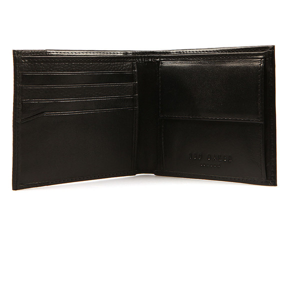 Ted Baker Mens Black Slippin Leather Grain Bifold Wallet main image