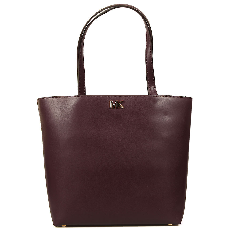 Michael Kors Mott Mid Tote Bag In 'damson' Is A Beautifully Crafted Leather Bag In A Deep Purple Colour-way And Features Gold MK Metal Lettering To The Front. The Smooth Leather Bag Has Two Shoulder Straps And Slip Pockets To The Interior. Approx: H: 28cm X W: 36cm X D: 13cm