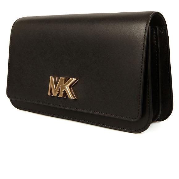 Michael Kors Womens Black Mott Large Clutch main image