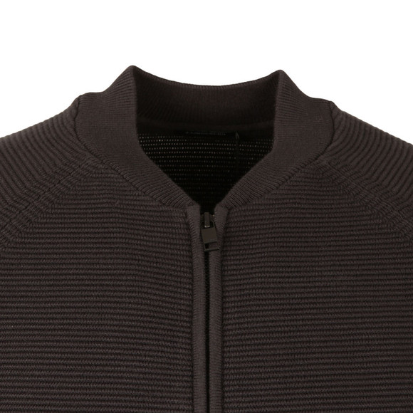 J.Lindeberg Mens Black Trust Zip Compact Cotton Bomber main image