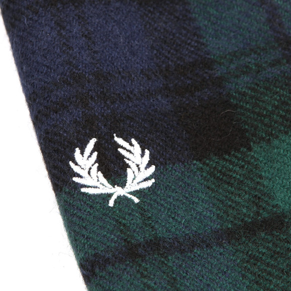 Fred Perry Mens Green Black Watch Tartan Scarf main image