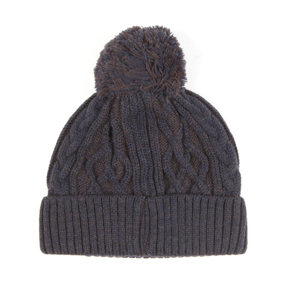 Luke Mens Blue Bailey Plated Cable Beanie main image