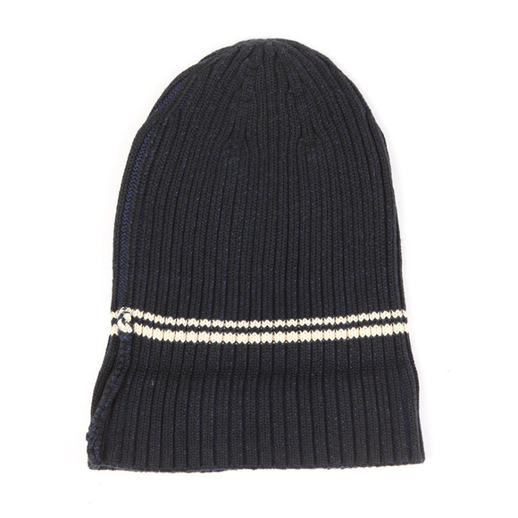 Fred Perry Mens Blue 2 Tone Beanie main image
