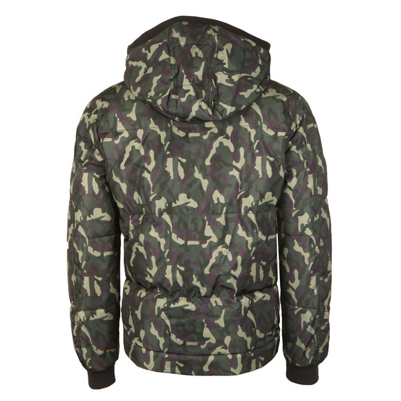 True Religion Mens Grey Hooded Camouflage Jacket main image
