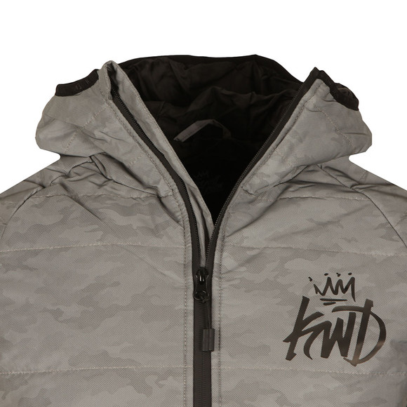 Kings Will Dream Mens Grey Elthorne Camo Reflective Puffer Jacket main image
